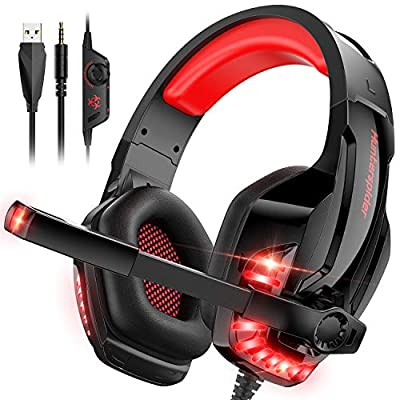 PC Headphone with Microphone Stereo Sound for PS4 Xbox One PC Noise Cancelling