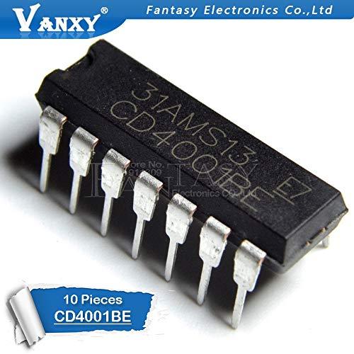10 STÜCKE CD4001BE DIP14 CD4001 DIP 4001BE DIP-14 neue und original IC