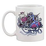 Actopus E Il Nave Tazza In Ceramica Da Donna Uomo Caffè Tè Bianca Coffee Tea Mug Cup