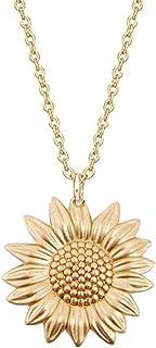 Star and Sea Collar con Colgante de pétalo en Forma de Girasol para Mujeres y niñas