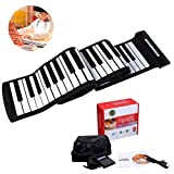 88 Keys Roll UP Piano, USB Silicone Portable Foldable MIDI Digital Piano Keyboard
