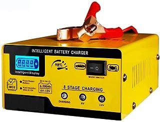 Bilbatteriladdare 6V12V smart reparationstyp batteriladdare universell motorcykelbatteriladdare (gul)