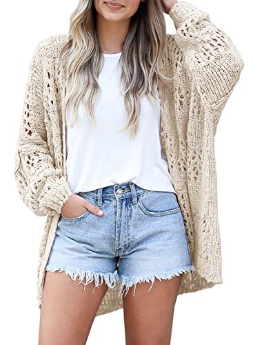 Spring Netted Crochet Cardigans Sweaters