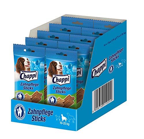 Chappi Dental-Hundesnacks - 70 Zahnpflege-Sticks zur Reduzierung von Zahnstein & Zahnbelag für mittelgroße Hunde von 10-25 kg, 10er Pack (10 x 180 g)