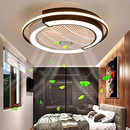 HHGM De Ventilador De Techo Silenciosa Regulable con Control Remoto Diseño Ultrafino Lámpara De Techo con Ventilador LED Dormitorio Cuarto De Niños Comedor Timing Ventilador Lámpara De Techo