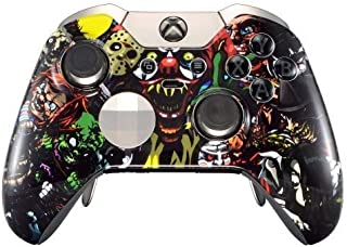 Scary Party Rapid Fire Custom Modded Controller Compatible with Xbox One Elite 40 Mods for All Major Shooter Games, Auto Aim, Quick Scope, Auto Run, Sniper Breath, Jump Shot, Active Reload & More