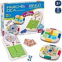 JUINSA- Set 3 Juegos Bingo/Parchis/Oca 54X38 Cm, (96828)