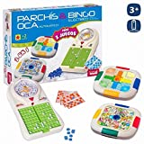 JUINSA- Set 3 Juegos Bingo/Parchis/Oca 54X38 Cm, Multicolor (96828)