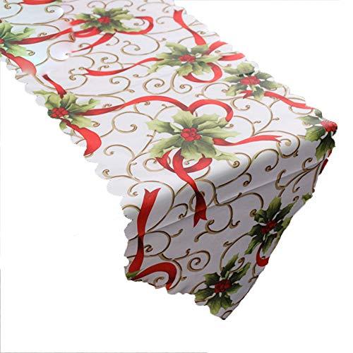 Westeng Corredor Mesa de Navidad Camino de Mesa de Boda Mantel Banner de Hogar Decoración Size 180×36CM (Fruta...