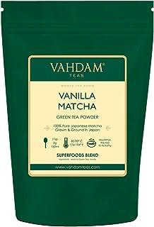 VAHDAM, Vanilla + Matcha Green Tea Powder - Brew Delicious Vanilla Matcha Latte | Powerful SUPERFOODS Blend | Japanese Mat...