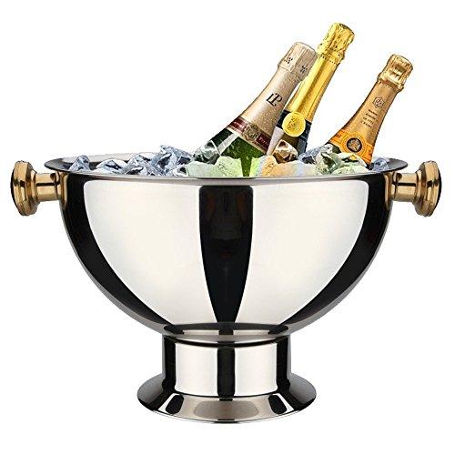 Secchiello per ghiaccio in acciaio inox secchiello per champagne champagne extra large vino rosso secchiello per ghiaccio secchiello per champagne secchiello per ghiaccio placcato oro alto