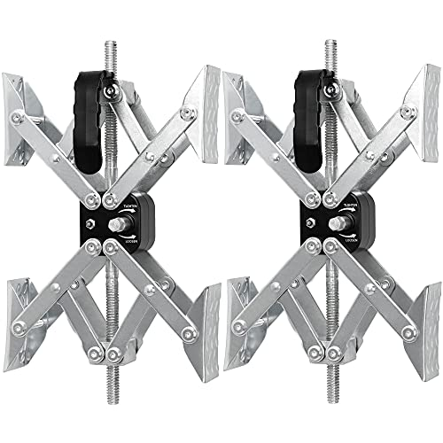 MaxChock X-Shaped Wheel Chock Stabilizer (Allow Drill Adjust) Tandem-Axle Trailer RV Tire Wheel Stop While Camping -Pair