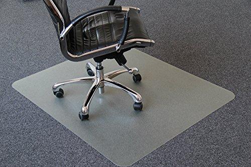 Airocell Petex PET Bodenschutzmatte, rutschfest, transparent für Hartböden, Laminat-Parkett-Venyl-Fliesen, 120 cm x 120 cm, 1,8 mm Dick, mit abgerundeten entgrateten Ecken.