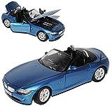 BMW Z4 E85 Cabrio Blau Metallic 1. Generation 2002-2008 1/24 Motormax Modell Auto mit individiuellem...
