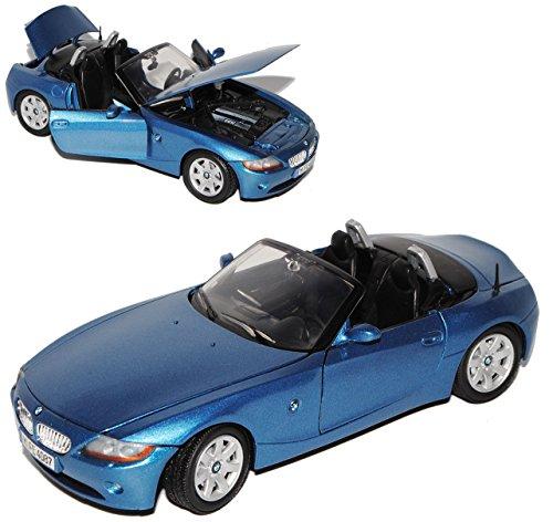 B-M-W Z4 E85 Cabrio Blau Metallic 1. Generation 2002-2008 1/24 Motormax Modell Auto