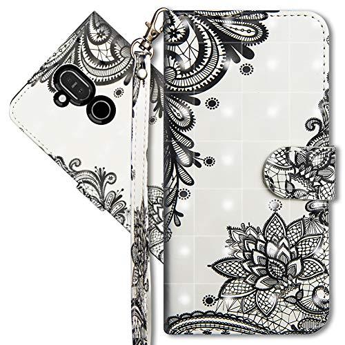 MRSTER Compatibile con Nokia 8.1 Custodia, Creativo 3D Design [Funzione Stand] [Magnetica] [Slot Carte] Flip Pelle PU Cover Protettiva Caso per Nokia 8.1 / Nokia X7. YX 3D 8