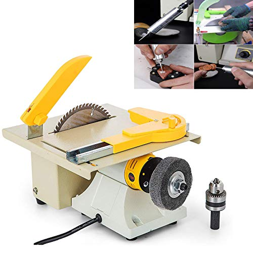 Mophorn Jewelry Rock Saw 350W Jewelry Polishing Machine Multifunctional 220V Jewelry Rock Polishing Buffer Machine Woodworking Cutting Polishing Carving Machine Perfect for DIY Model Makers