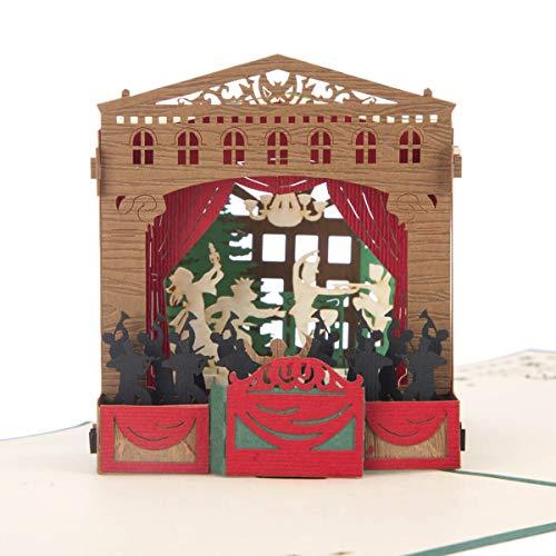 Kerstkaarten | De Notenkraker Ballet Pop Up Card, 3D Liefdadigheid Kerstkaart, Blank binnen, Handgemaakte Luxe Kerstkaarten door Cardology