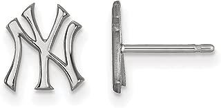 MLB New York Yankees Sterling Silver MLB LogoArt New York Yankees XS Post Earrings Size One Size