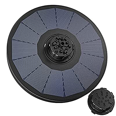 Solar Powered Fountain Pump With 4 Different Water Spray Patterns For Bird Bath And Garden Pond Decoration
