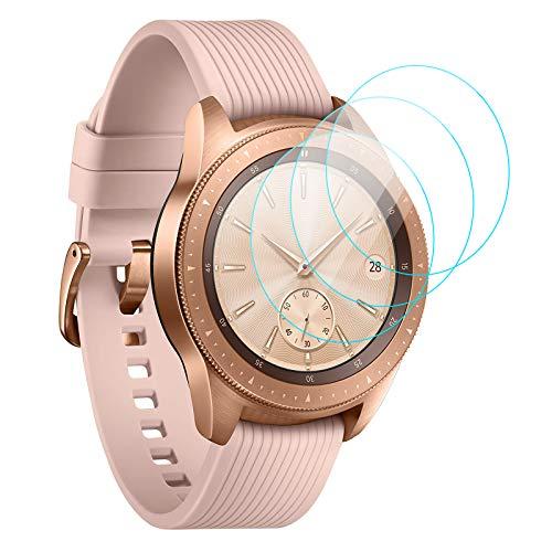 KIMILAR [3 Stück] Panzerglas Kompatibel mit Samsung Galaxy Watch 42mm/Galaxy Watch 3 41mm Schutzfolie, 9H Festigkeit Gehärtetes Glas Bildschirmschutzfolie (Nicht Fit für Active 2/46mm/40mm/45mm/Huawei GT 2)