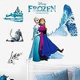 Cartoon DIY Frozen Princesa Elsa Anna Pared Pasa a una niña guardería Habitación Dormitorio Decoraci...
