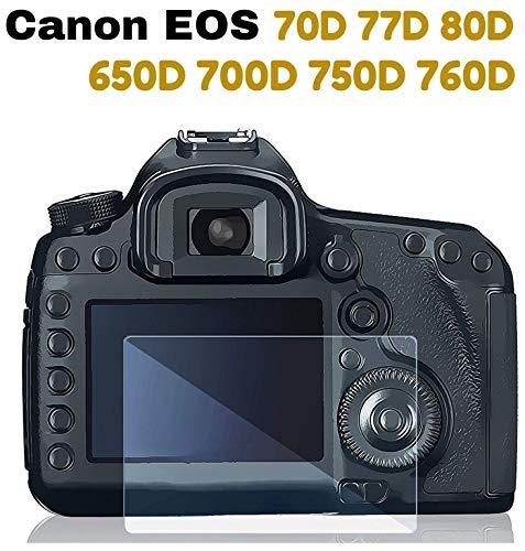 M.G.R.J® Tempered Glass Screen Protector for Canon EOS 70D 77D 80D 650D 700D 750D 760D 9000D
