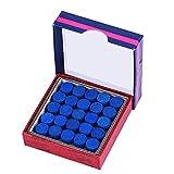 VGEBY1 Puntas de Referencia, Puntas de Referencia de Billar de una Sola Capa pegadas con Cuero de 50 Piezas/Lote para Tacos de Billar 13 mm(13mm)