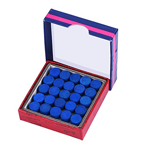 VGEBY1 Cue Tips, 50 Stks/partij leder lijm-on enkele laag Biljart Cue Tips voor Snooker Cues 13mm