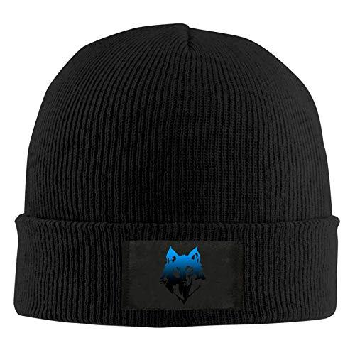 BXYJSHIYI Gray Wolf Warm Stretchy Knit Beanie Hat Slouch Skull Cap for Men & Women