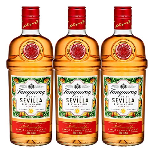 Tanqueray Flor de Sevilla, 3er, Destillierter Gin, Alkohol, Alkoholgetränk, Flasche, 41.3{c71acf11820aa6287d74a528cb3ee1c648379dba0a21f4dcdd5ed34db20fab16}, 700 ml, 753383