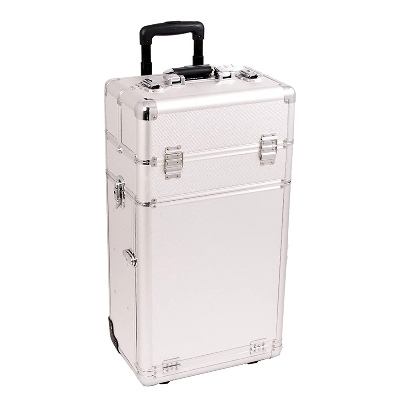 Craft Accents I3463 Dot Trolley Craft/Quilting Storage Case, Silver