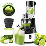 Slow Masticating Juicer Machine, 55RPM Cold Press Juice Extractor 3.4inch Wide Mouth...