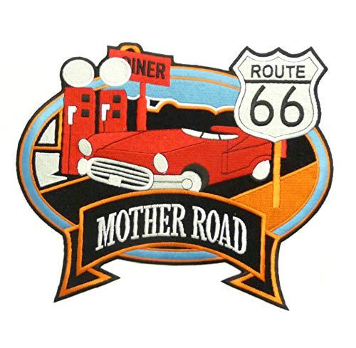 Desconocido Parche genérico Grande para Mother Road Route 66, Harley Davidson termoadhesivo
