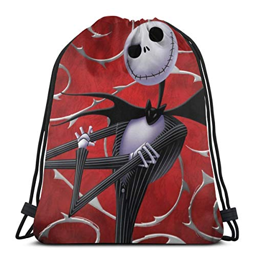 Drawstring Backpack The Nightmare Before Christmas Lightweight Gym Bag for Sport Hiking Yoga Travel Beach Daypack Portable Gift k