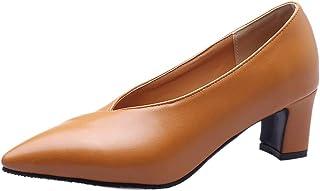 VulusValas Women Block Heel Pumps