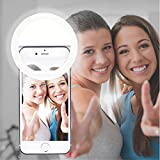 autopkio selfie ring light, 36 led light ring usb ricaricabile regolabile 3 livelli luminosità con clip per smartphone webcast youtube tiktok (bianca)
