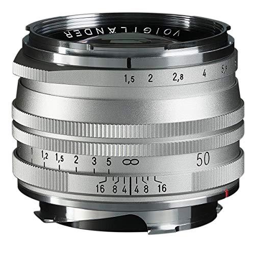 Voigtlander Nokton Vintage Line 50mm f/1.5 Aspherical II VM lente de una sola capa, plata