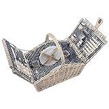 Die besten Picknickkörbe - anndora Picknickkorb 4 Personen Weidenkorb Henkelkorb beige + Bewertungen