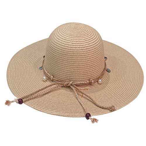 accsa Sombrero de Paja para Mujer Ajustable Pamelas de Playa con ala...
