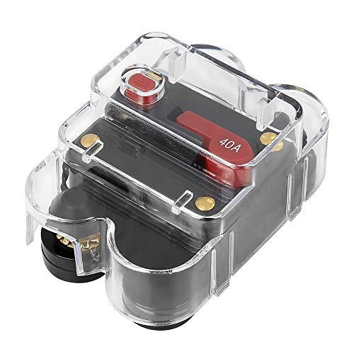 X AUTOHAUX Manueller Reset Inline Sicherung Inverter Leistungsschalter 40A für Auto Audio