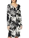 Adrianna Papell V-Neck Ruched Dress, Vestido Para Mujer, Multicolor (Black Multi), Talla del fabricante: M