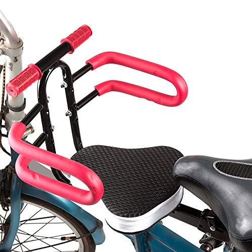 noone Asiento de seguridad desmontable de la bicicleta de los niños con el apoyabrazos de la bici del soporte delantero de los niños de la silla de