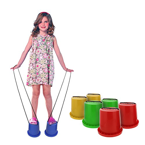 For Sale! Get Out! Bucket Stilts in Blue – Kid Stilt 2-Pack (Pair) Walking Cups for Children – K...