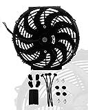 16' inch Universal Slim Fan Push Pull Electric Radiator Cooling 12V Mount Kit