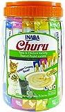 INABA Churu Tuna & Chicken Lickable Creamy Purée Cat Treats 5 Flavor Variety Pack of 50 Tubes