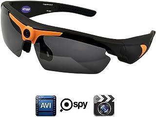 OOZIMO Gafas de Sol Cámara Full HD 1080p con ángulo de más Mini cámara Vigilancia Oculto para Exterior Deportes