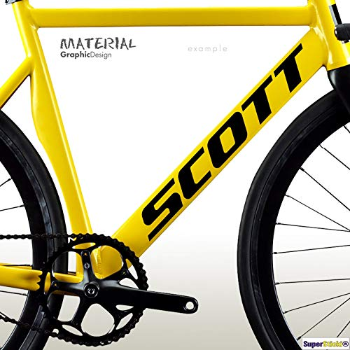 SUPERSTICKI Scott Mountainbike Sticker ca 30 cm Sticker Decal van high-performance film Sticker Tuning Sticker Racing Sticker Racing Sticker High Performance film voor