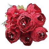 StarLifey Fleurs Artificielles, Faux Fleurs en Soie Plastique Artificielle Pivoines Têtes De Mariée Bouquet pour La Maison Jardin Mariage