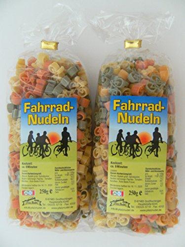 Pfalznudel Streuteile Fahrräder aus Nudelteig, 2X 250 g, Nudeln, Pasta, Dekoration, Delikatesse, Fahrrad